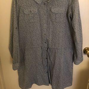 yargici Dresses - 100% cotton very soft blue designer dress